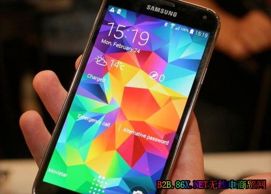 三星最新一代旗舰智能手机Galaxy S5