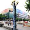 陶瓷青花手绘粉彩灯柱街道路灯小区花园定制3米厂家定制灯柱子
